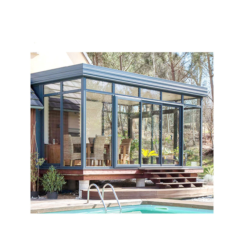 Aluminum frame outdoor glass house and garden glass house aluminum sunroom for sale