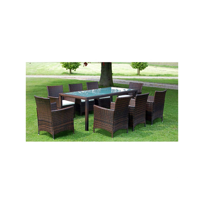 9 Piece Outdoor Dining Set with Cushions