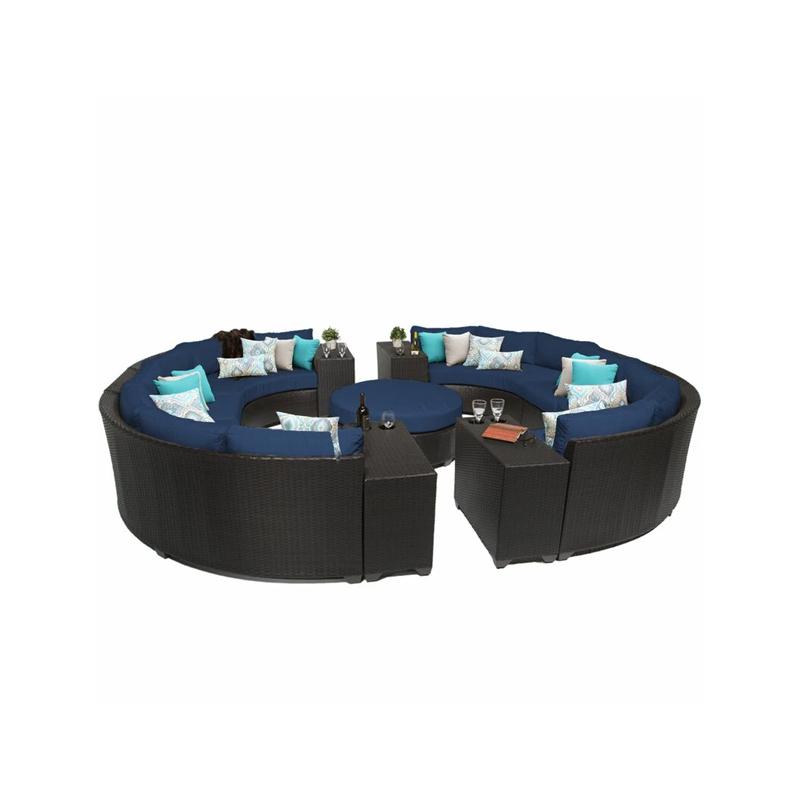 Outdoor furniture Patio garden round big rattan sofa set