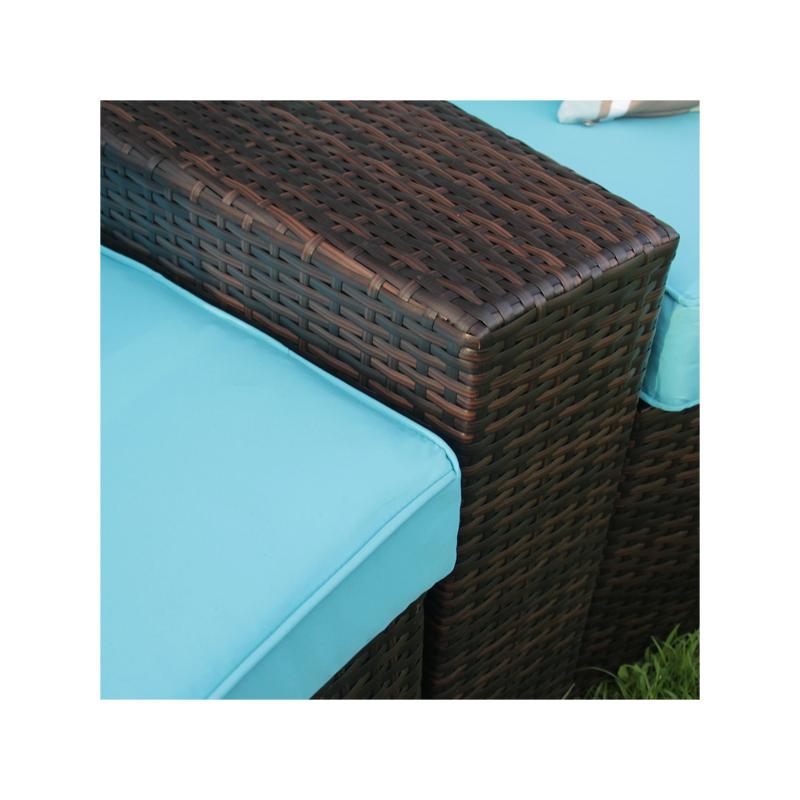 7-piece Patio Furniture Outdoor Half-moon Sofa Set