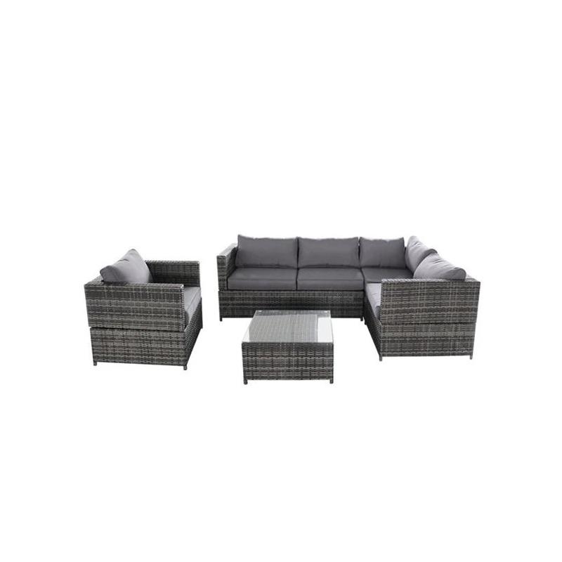 4 pieces Wicker Rattan Patio Sectional Sofa Set