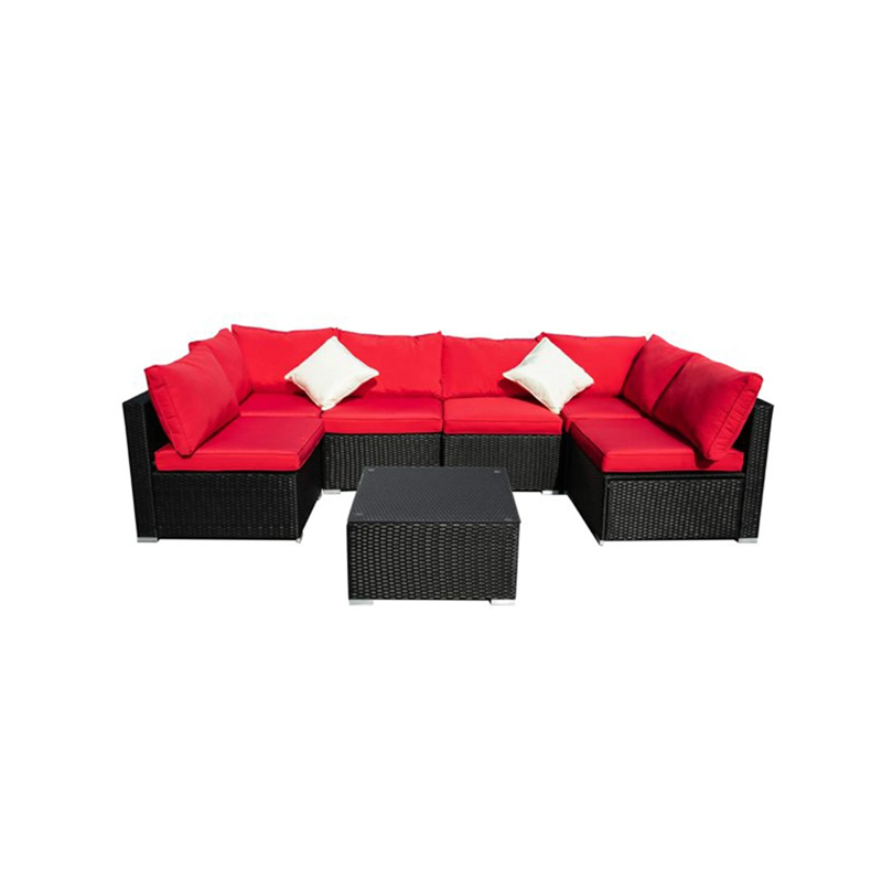 Rattan 7-piece Outdoor Patio Sofa Sectional
