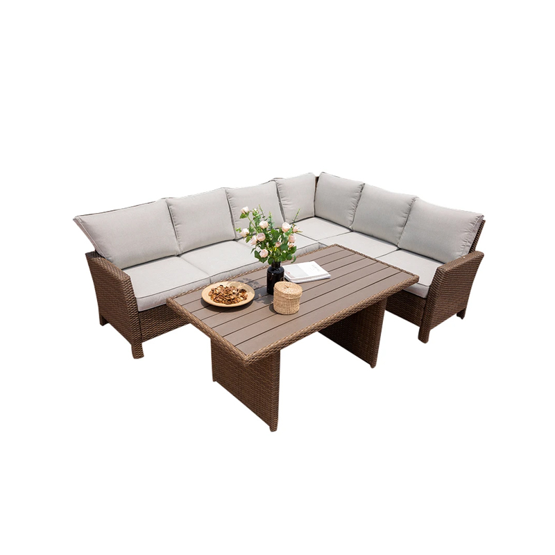Sofa set furniture rattan combination brown living sofa