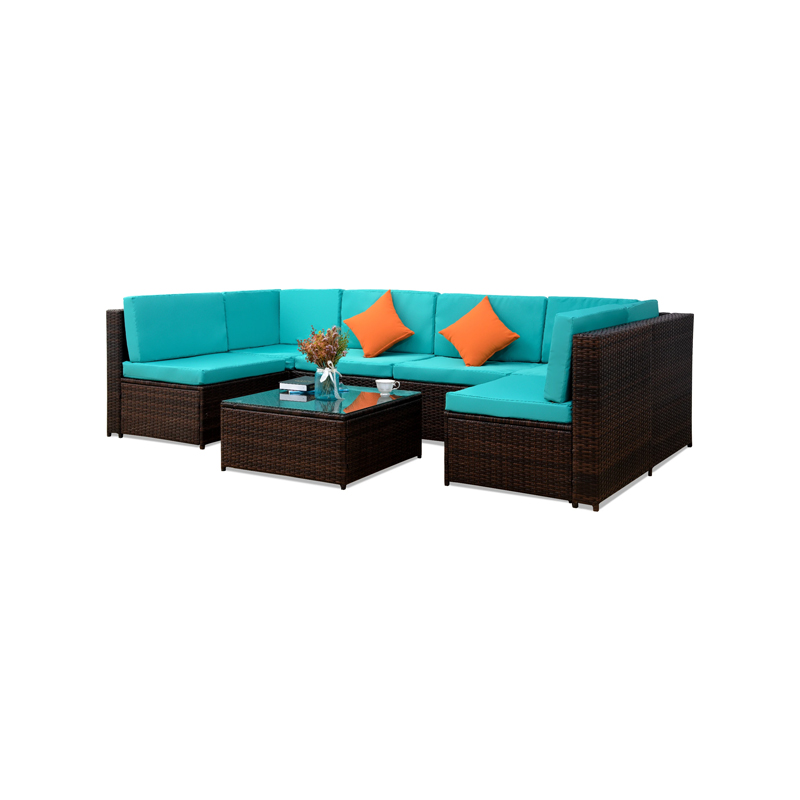 Patio Dining Sets 7 Piece Sectional Furniture Sets