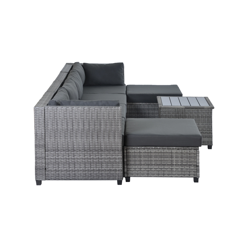 7 Piece Patio Sectional Furniture Set